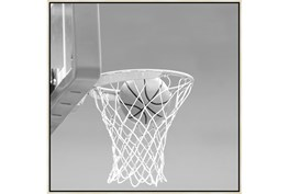 47X47 He Shoots - He Scores 2 With Birch Frame