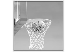 47X47 He Shoots - He Scores 2 With White Frame