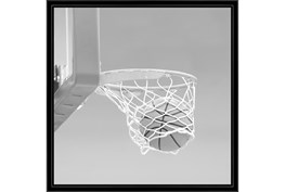 26X26 He Shoots - He Scores 3 With Black Frame
