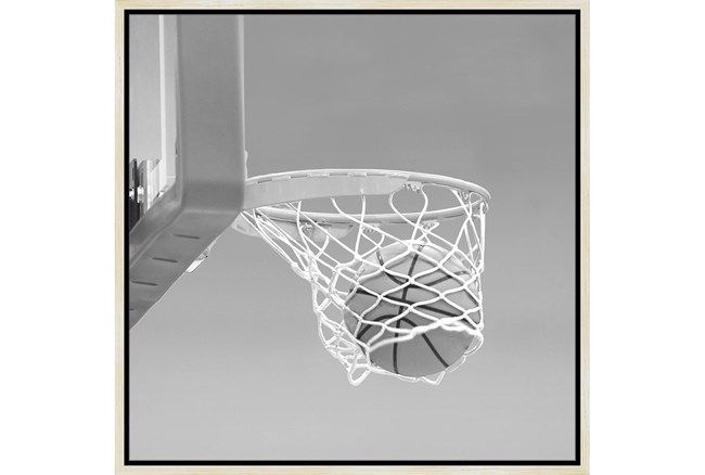 26X26 He Shoots - He Scores 3 With Birch Frame  - 360