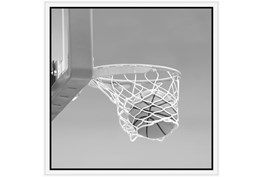 26X26 He Shoots - He Scores 3 With White Frame