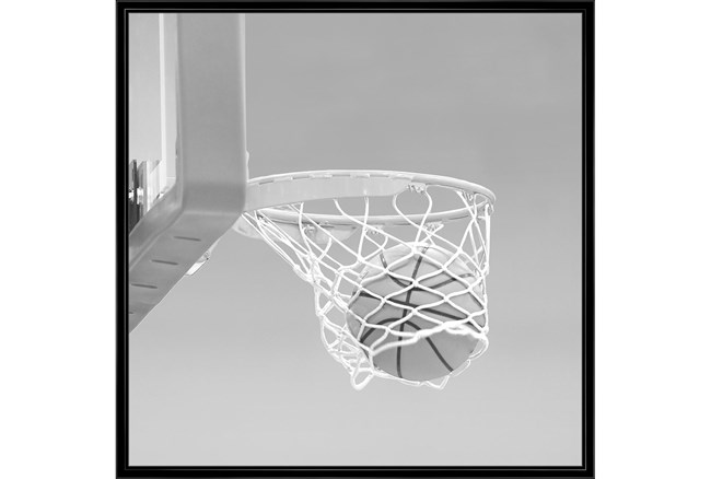 38X38 He Shoots - He Scores 3 With Black Frame  - 360