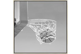 38X38 He Shoots - He Scores 3 With Birch Frame