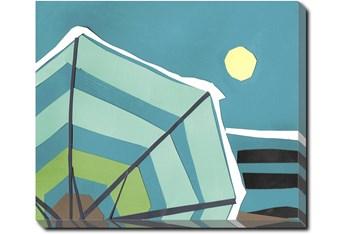 24X20 Beach Umbrella With Gallery Wrap Canvas