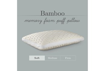 Pure Care Bamboo Memory Foam Soft Puff Queen Pillow