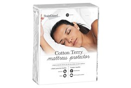 Pure Care Stainguard Cotton Terry 1-Sided Full Mattress Protector