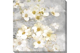 24X24 Floral Frenzy With Gallery Wrap Canvas
