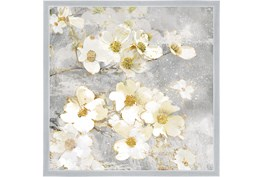 26X26 Floral Frenzy With Silver Frame