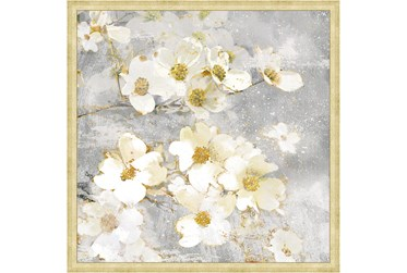 26X26 Floral Frenzy With Bronze Gold Frame