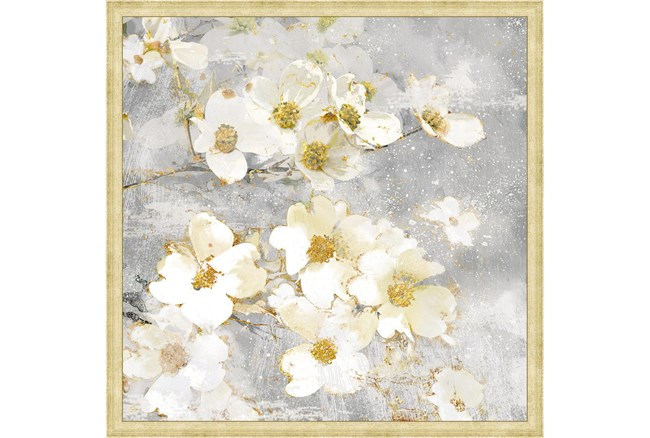 26X26 Floral Frenzy With Bronze Gold Frame - 360