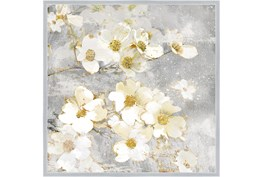 38X38 Floral Frenzy With Silver Frame