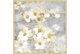 38X38 Floral Frenzy With Bronze Gold Frame