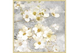 47X47 Floral Frenzy With Bronze Gold Frame