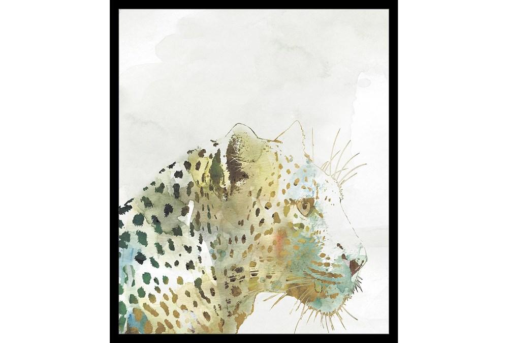 22X26 Jungle Friends Leopard With Black Frame