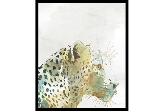 22X26 Jungle Friends Leopard With Black Frame  - 360