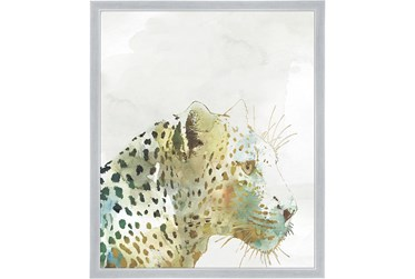 22X26 Jungle Friends Leopard With Silver Frame