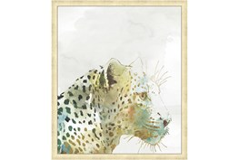22X26 Jungle Friends Leopard With Gold Champagne Frame