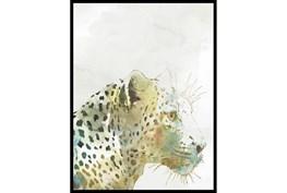 32X42 Jungle Friends Leopard With Black Frame
