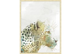 32X42 Jungle Friends Leopard With Gold Champagne Frame