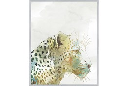 42X52 Jungle Friends Leopard With Silver Frame