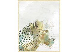 42X52 Jungle Friends Leopard With Gold Champagne Frame