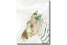 30X40 Jungle Friends Zebra With Gallery Wrap Canvas