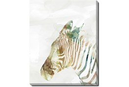 40X50 Jungle Friends Zebra With Gallery Wrap Canvas