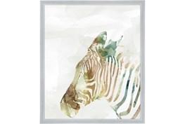 22X26 Jungle Friends Zebra With Silver Frame