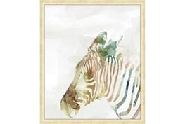 22X26 Jungle Friends Zebra With Gold Champagne Frame