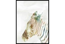 32X42 Jungle Friends Zebra With Black Frame