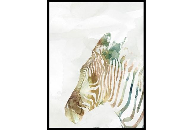 32X42 Jungle Friends Zebra With Black Frame  - 360
