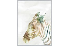 32X42 Jungle Friends Zebra With Silver Frame