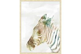32X42 Jungle Friends Zebra With Gold Champagne Frame