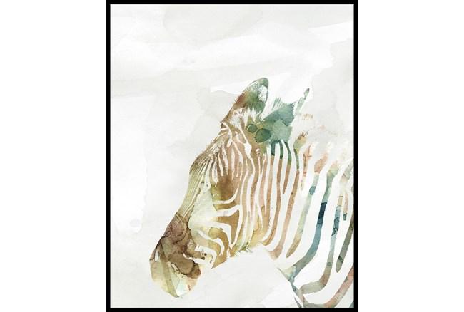 42X52 Jungle Friends Zebra With Black Frame  - 360