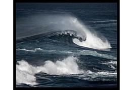 26X22 Deep Wave With Black Frame
