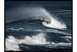 42X32 Deep Wave With Black Frame