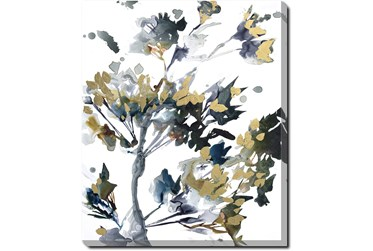 20X24 Golden Flowers With Gallery Wrap Canvas