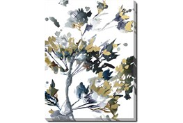 30X40 Golden Flowers With Gallery Wrap Canvas