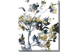 40X50 Golden Flowers With Gallery Wrap Canvas