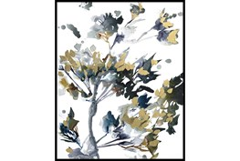 42X52 Golden Flowers With Black Frame