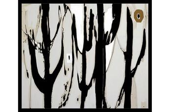 22X26 Desert Trees With Black Frame