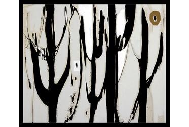 26X22 Desert Trees With Black Frame