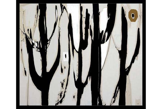 26X22 Desert Trees With Black Frame - 360