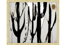 26X22 Desert Trees With Gold Frame
