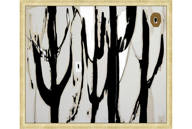 26X22 Desert Trees With Bronze Gold Frame - 360