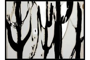 42X32 Desert Trees With Black Frame