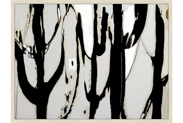 42X32 Desert Trees With Birch Frame