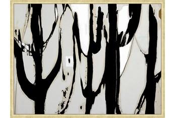42X32 Desert Trees With Gold Frame