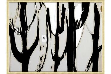 42X32 Desert Trees With Bronze Gold Frame