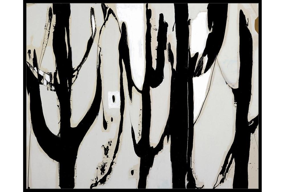 52X42 Desert Trees With Black Frame